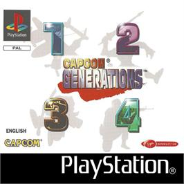 Box cover for Capcom Generations on the Sony Playstation.