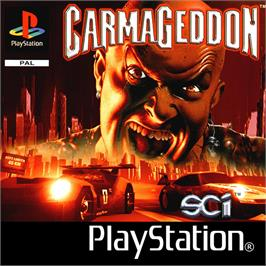 Box cover for Carmageddon on the Sony Playstation.