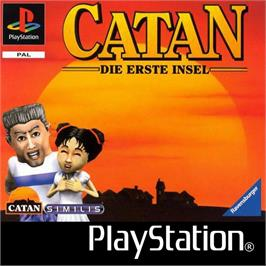 Box cover for Catan: Die Erste Insel on the Sony Playstation.