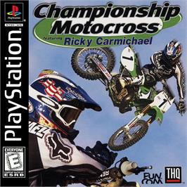 Box cover for Championship Motocross Featuring Ricky Carmichael on the Sony Playstation.