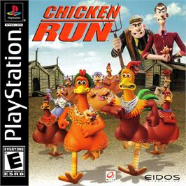 Box cover for Chicken Run on the Sony Playstation.