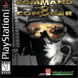 Box cover for Command & Conquer: Red Alert on the Sony Playstation.