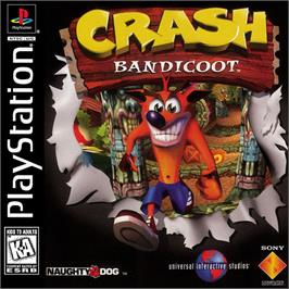 Box cover for Crash Bandicoot on the Sony Playstation.