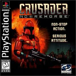 Box cover for Crusader: No Remorse on the Sony Playstation.