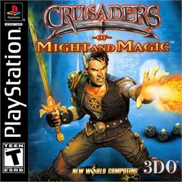 Box cover for Crusaders of Might and Magic on the Sony Playstation.