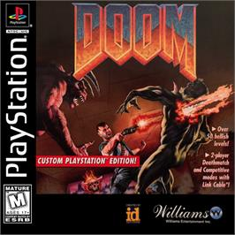 Box cover for DOOM on the Sony Playstation.