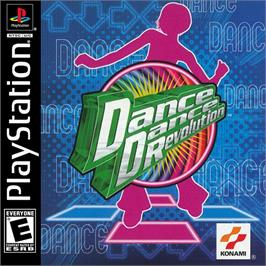 Box cover for Dance Dance Revolution on the Sony Playstation.