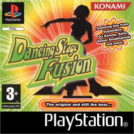 Box cover for Dancing Stage Fusion on the Sony Playstation.