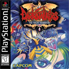 Box cover for Darkstalkers: The Night Warriors on the Sony Playstation.