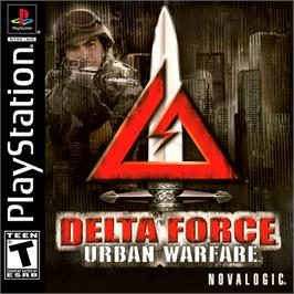 Box cover for Delta Force: Urban Warfare on the Sony Playstation.