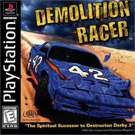 Box cover for Demolition Racer on the Sony Playstation.
