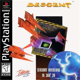 Box cover for Descent on the Sony Playstation.