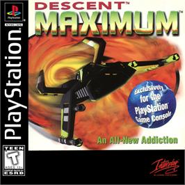 Box cover for Descent Maximum on the Sony Playstation.