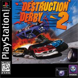 Box cover for Destruction Derby 2 on the Sony Playstation.