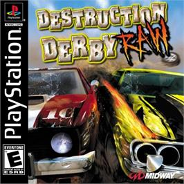 Box cover for Destruction Derby Raw on the Sony Playstation.