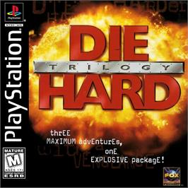 Box cover for Die Hard Trilogy on the Sony Playstation.
