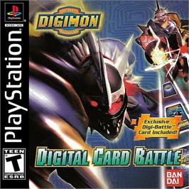 Box cover for Digimon Digital Card Battle on the Sony Playstation.