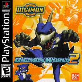 Box cover for Digimon World 2 on the Sony Playstation.