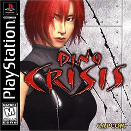 Box cover for Dino Crisis on the Sony Playstation.