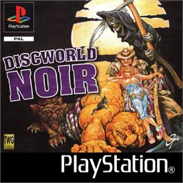 Box cover for Discworld Noir on the Sony Playstation.
