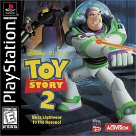 Box cover for Disney/Pixar's Toy Story 2: Buzz Lightyear to the Rescue! on the Sony Playstation.