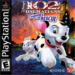 Box cover for Disney's 102 Dalmatians: Puppies to the Rescue on the Sony Playstation.