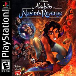 Box cover for Disney's Aladdin in Nasira's Revenge on the Sony Playstation.