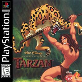 Box cover for Disney's Tarzan on the Sony Playstation.