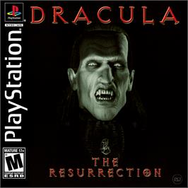 Box cover for Dracula: The Resurrection on the Sony Playstation.
