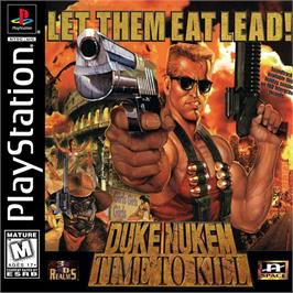 Box cover for Duke Nukem: Time to Kill on the Sony Playstation.