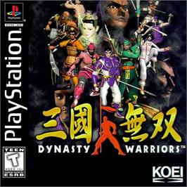 Box cover for Dynasty Warriors on the Sony Playstation.