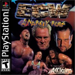 Box cover for ECW Anarchy Rulz on the Sony Playstation.