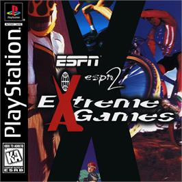 Box cover for ESPN Extreme Games on the Sony Playstation.