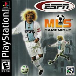 Box cover for ESPN MLS GameNight on the Sony Playstation.