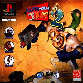 Box cover for Earthworm Jim 2 on the Sony Playstation.