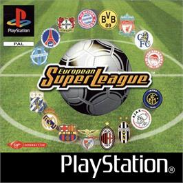 Box cover for European Super League on the Sony Playstation.