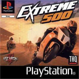Box cover for Extreme 500 on the Sony Playstation.