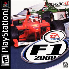 Box cover for F1 2000 on the Sony Playstation.
