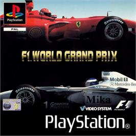 Box cover for F1 World Grand Prix on the Sony Playstation.