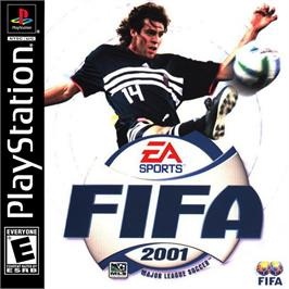 Box cover for FIFA 2001 on the Sony Playstation.