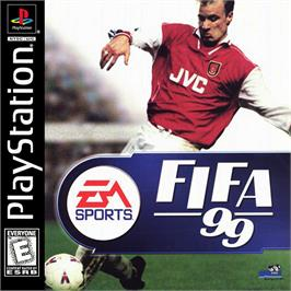 Box cover for FIFA 99 on the Sony Playstation.