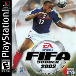 Box cover for FIFA Soccer 2002 on the Sony Playstation.