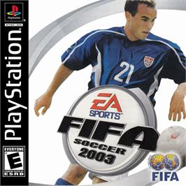 Box cover for FIFA Soccer 2003 on the Sony Playstation.