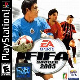 Box cover for FIFA Soccer 2005 on the Sony Playstation.