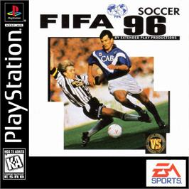Box cover for FIFA Soccer 96 on the Sony Playstation.