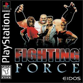 Box cover for Fighting Force on the Sony Playstation.