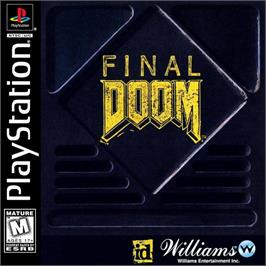 Box cover for Final DOOM on the Sony Playstation.