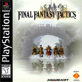 Box cover for Final Fantasy Tactics on the Sony Playstation.