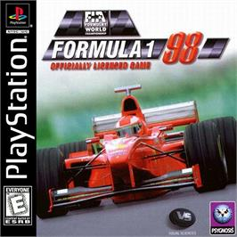 Box cover for Formula 1 '98 on the Sony Playstation.
