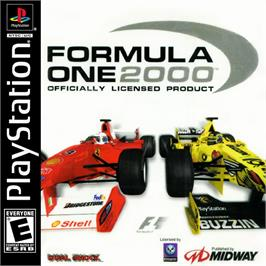 Box cover for Formula One 2000 on the Sony Playstation.